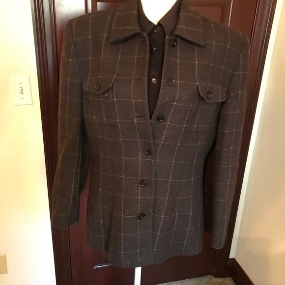 Jones of New York Jackets & Blazers - 4 Piece Brown Wool Suit. Sz 14